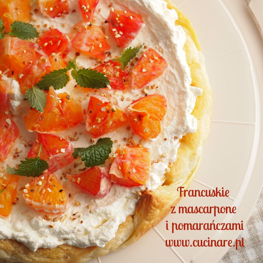 francuskie z mascarpone i pomarańczami
